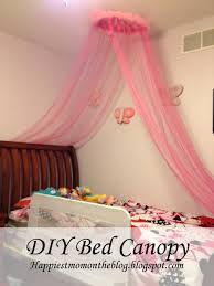 Ceiling Bed Canopy Happiest Mom On The Blog Diy Bed Canopy With Rhinestones