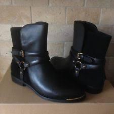 ugg bryce womens 1009177 blk ugg bryce womens 1009177 blk black leather buckle medial zipper