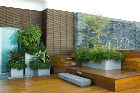 modern elegant design of the elevated deck plans that has wooden
