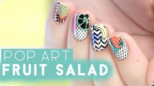 pop art fruit nail art moyou london demo youtube