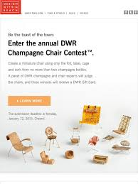 design within reach call for entries the dwr champagne chair