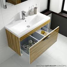 memoir designer 600mm wall hung vanity unit gloss walnut