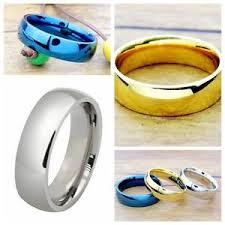 stainless steel rings for men 6mm stainless steel rings men women s wedding band silver gold