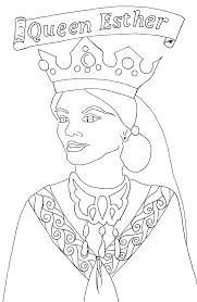 esther coloring free printable bible coloring