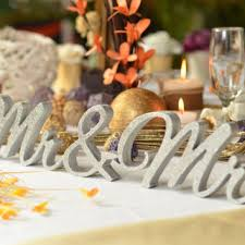 mr and mrs sign for wedding mr and mrs wedding signs glitter mr from sunfla on etsy