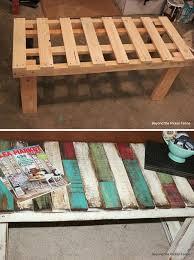 15 Unique Pallet Picnic Table 101 Pallets by Diy Pallet Bench Http Diycozyhome Com Diy Patchwork Pallet Bench