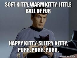 Nerd Birthday Meme - soft kitty warm kitty little ball of fur happy kitty sleepy
