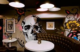 colour republic wall mural artist ben brighton and hove east ben s skull mural graphic bar london