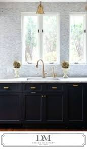 Black And White Kitchen Transitional Kitchen by Kitchen Cabinets Black And White Kitchen Via Aesthetic Oiseau