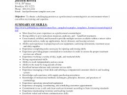 Cosmetology Resume Templates Free Fantastic Resume For Cosmetology 14 Cosmetology Resume Skills