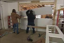 How To Install An Overhead Door Installing A New Garage Door Best Overhead Doors