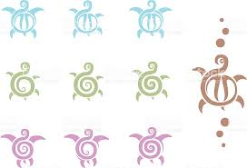 tribal turtle tattoos stock vector art 165043320 istock