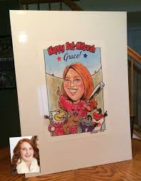 birthday signing board more gift caricatures caricatures by rick