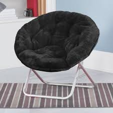 amazon com urban shop faux fur saucer chair black toys u0026 games