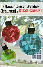 glass stained window ornaments kids craft