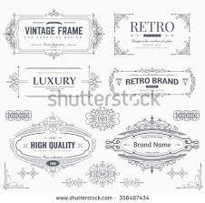 decorative ornament frame set free vector stock
