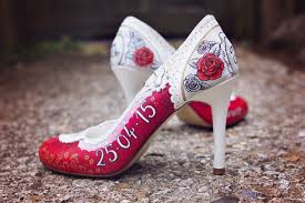 wedding shoes liverpool win a pair of custom designed painted wedding shoes from