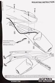 acerbis x led universal road legal tail light