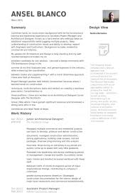 Assistant Project Manager Construction Resume Architectural Designer Resume Samples Visualcv Resume Samples