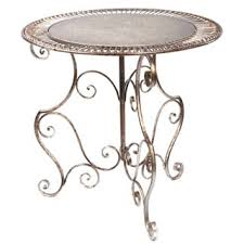 Round Decorative Table Black Metal Accent Table Free Shipping On Orders Over 45