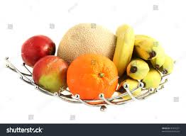 decorative modern stainless steel fruit bowl stock photo 47419231