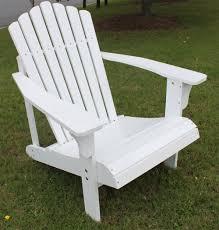 Painted Wooden Patio Furniture Amazon Com 7 Slat White Painted Hardwood Adirondack Chair