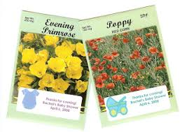 seed favors flower seed packets an inexpensive baby or bridal shower favor