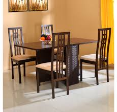 dining table set 4 seater buy gypsy 4 seater dining set home by nilkamal dark walnut