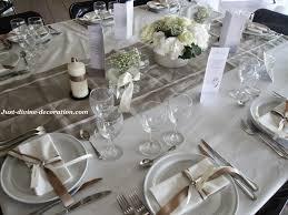 d coration mariage chetre mariage ivoire blanc marron deco table