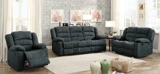 gray reclining sofa homelegance greenville reclining sofa set blue grey 8436gy sofa