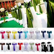 satin chair sashes 50pcs 6 x 108 satin chair sash bow ties for banquet wedding