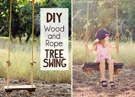 diy rustic wood and rope tree swing hometalk