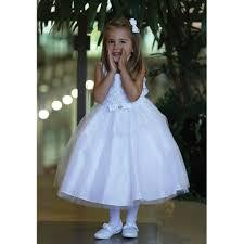 angel garment white organza ruffle pageant flower dress 2t 4t