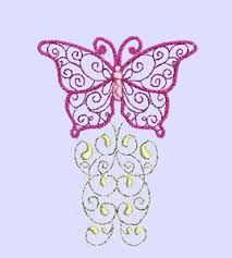 butterfly swirls machine embroidery designs bugs and butterflies
