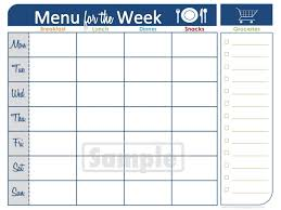 free menu planner template free printable tri fold brochure template