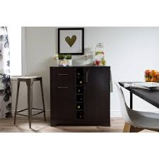 bars bar sets kitchen dining room furniture the home depot vietti 6 bottle black oak bar cabinet
