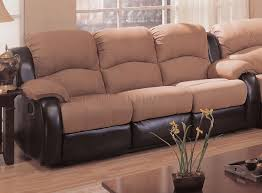 Reclining Sofa Modern by Tone Mocha U0026 Dark Brown Modern Reclining Sectional Sofa