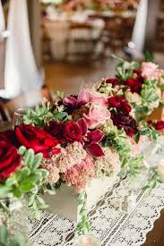 burgundy flowers window box centerpieces with pink and burgundy flowers