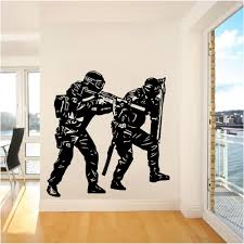 popular police decor buy cheap lots from china unique police soldier army wall sticker home decor vinyl decals for living room art pvc