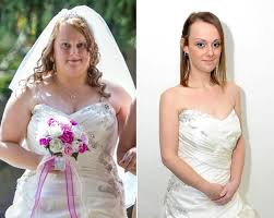 after wedding loses 100 pounds after wedding weight loss photos
