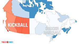 Canada French Speaking Map by Canada U0027s Other Term For Kickball Is U0027soccer Baseball U0027 Which