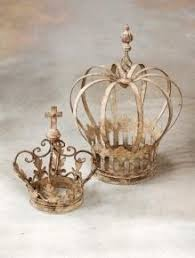 crown decor these crown toppers work great over a floral or greenery garden or
