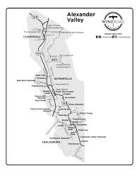 Sonoma Winery Map Maps Wine Road