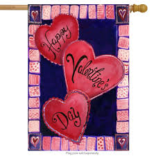 Valentine S Day Flags Amazon Com 3 Hearts For Valentine U0027s Day House Flag Love Heart