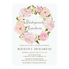 bridesmaid luncheon invitation wording peonies wreath bridesmaids luncheon invitation sarahann s