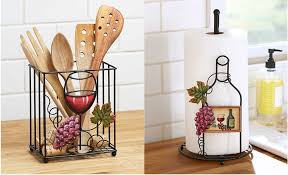 themed paper towel holder kitchen organization wine themed paper towel and utensil holder