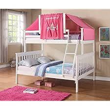 Amazoncom Donco Kids Donco Kids Twin Over Full Mission Bunk Bed - Tent bunk bed