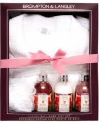 bath gift set sale brompton langely bath robe 5 gift set