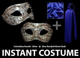 venetian masquerade costumes venetian blue hooded cloak and venetian masquerade mask