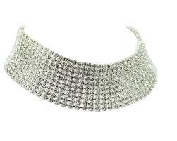 swarovski choker necklace images Swarovski choker crystal ten row diamante jewellery choker silver jpg
